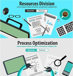 Flat Style Design Concepts for business analytics vector image