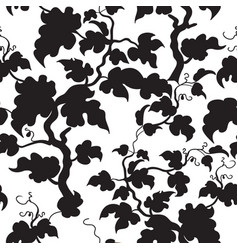 floral seamless pattern garden plant leaves vector image