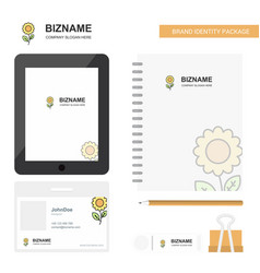 flower business logo tab app diary pvc employee vector image