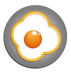 fried eggs with yellow paprika fried eggs vector image