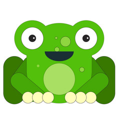 frog in cartoon flat style vector image