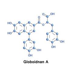 globoidnan a inhibitor of hiv integrase vector image