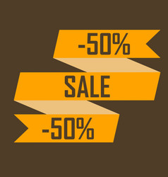 gold ribbon picture discounts for fifty percent on vector image vector image
