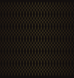 golden vintage seamless pattern vector image