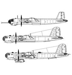 heinkel he177 greif vector image