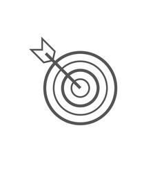 icon marketing target graphic design single vector image