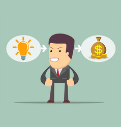 ideas are equal to money vector image