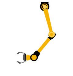Industrail robot arm vector