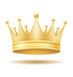 King royal golden crown vector