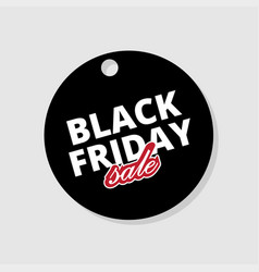label black friday template tag on black friday vector image