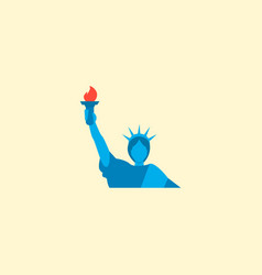Liberty statue icon flat element vector