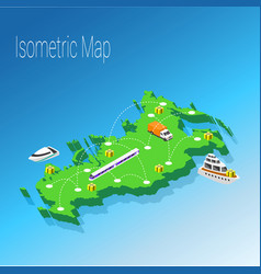 map russia isometric concept vector image