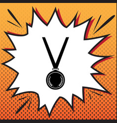 medal simple sign comics style icon on vector image