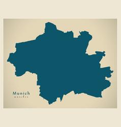 Modern city map - munich city of germany de vector