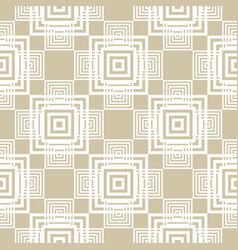 Modern golden geometric seamless squares pattern vector