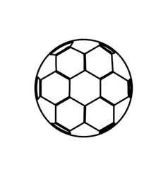 monochrome contour of soccer ball vector image