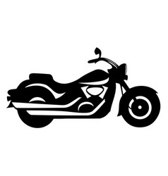 motorcycle cruiser stylish monochrome retro bike vector image