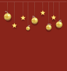 New year and christmas beautiful template vector