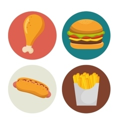 organic food menu icons vector image