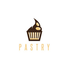 pastry design template simple cupcake vector image