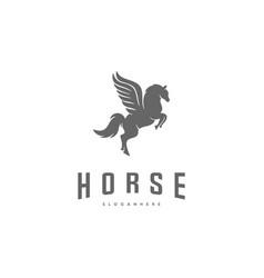 pegasus logo template horse logo template vector image