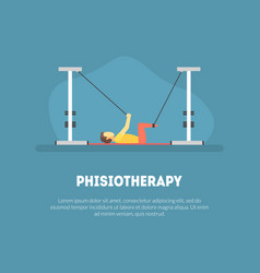Physiotherapy rehabilitation banner template vector