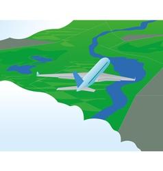 Plane in flight vector