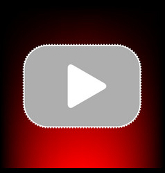 play button style vector image
