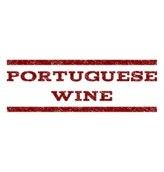 Portuguese Wine Watermark Stamp vector