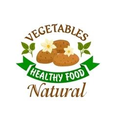 Potato vegetable healthy natural food emblem vector image