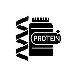 Protein black glyph icon vector