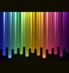 Rainbow melt line overlap abstract background vector