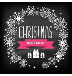 Retail christmas sign vector image