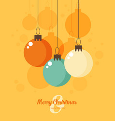 retro decorative christmas balls christmas card vector image