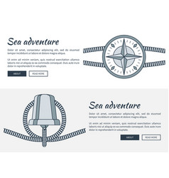 sea adventure web pages set vector image