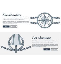 sea adventure web pages set vector image