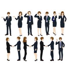 set cartoon business people no2 vector image
