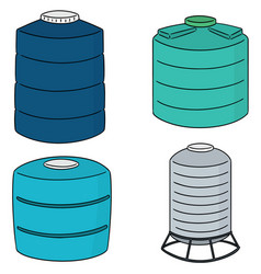 Set of water storage tank vector