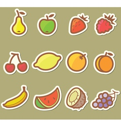 Set with fruits vector image