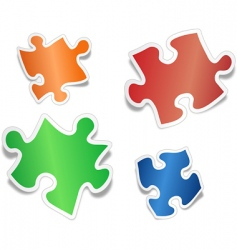 shiny jig saw puzzle pieces vector image