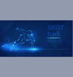 short track skating sport speed ice skating race vector image