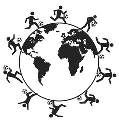 soccer players around the world vector image
