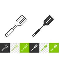 spatula simple black line icon vector image