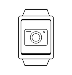 Square watch and camera icon graphic vector