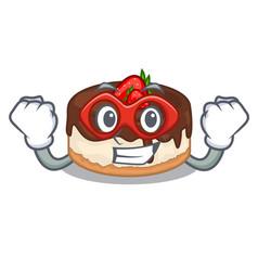 super hero cake berries in character that fresh vector image