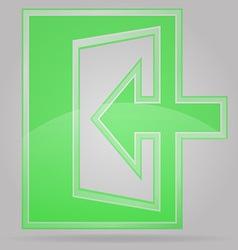 Transparent sign exit 02 vector