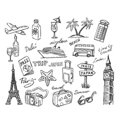 travel stack sketch vector image