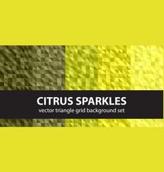 Triangle pattern set citrus sparkles seamless vector
