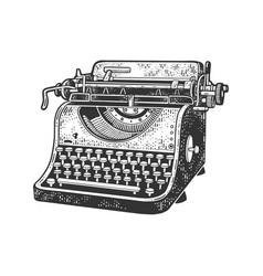 typewriter sketch vector image