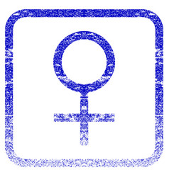 Venus female symbol framed textured icon vector